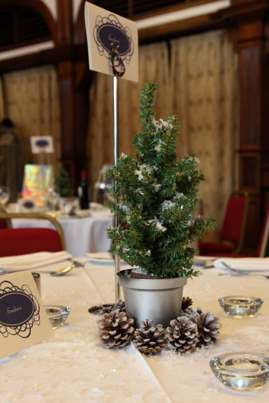 Our christmas tree centrepieces wedding
