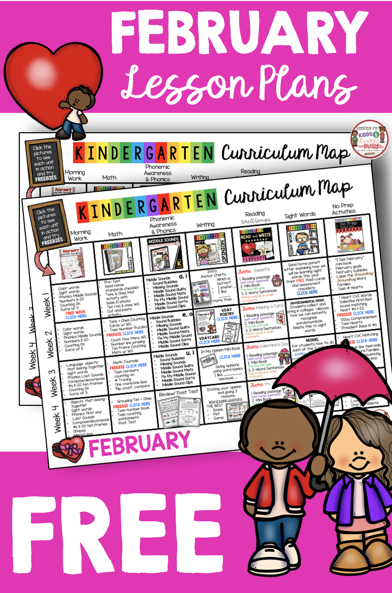 Free Kindergarten Lesson Plans For February And Valentine S Day Reading Lesson Plans Math Kindergarten Lesson Plans Curriculum Mapping Kindergarten Lessons [ 1166 x 772 Pixel ]