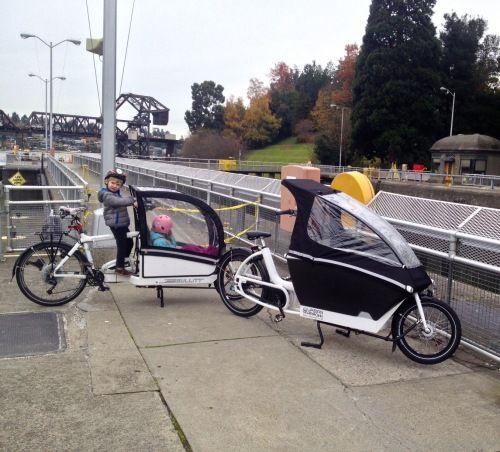 Totcycle Family Biking Bionx Bullitt Cargo Bike Review Green