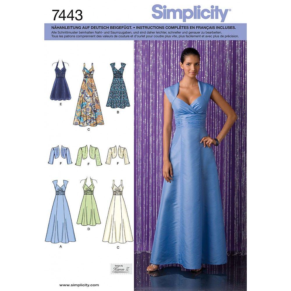 Schnittmuster - Simplicity - Abendkleid mit Jäckchen 15 günstig