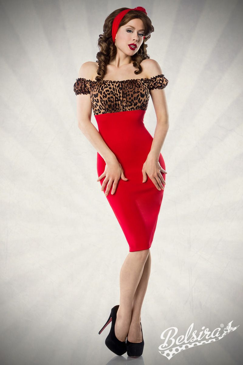 63004e1ec Vintage Dress - Red Leo by Belsira. Worn by Ophelia Overdose. Pin-Up ...