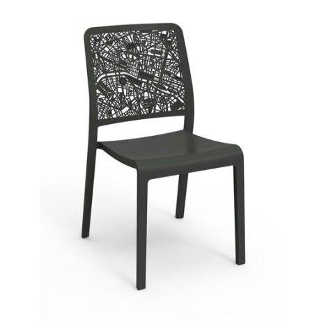 Chaise de jardin en r sine charlotte city couleur - Chaise jardin resine tressee ...