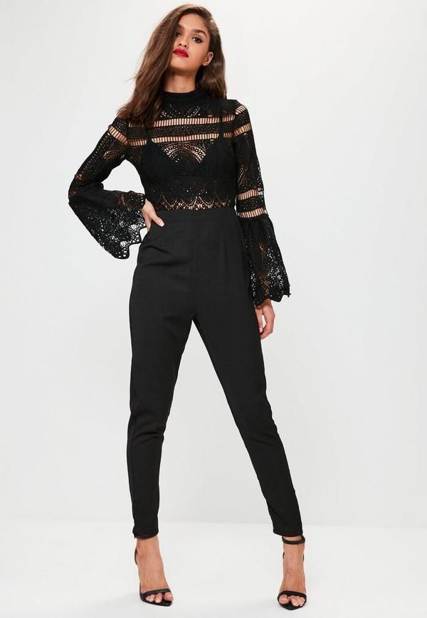 7dcd67671689 Look sleek and on fleek wearing this black jumpsuit - featuring a high  neck