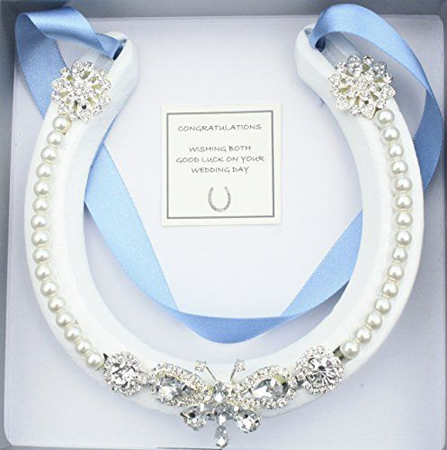 Lucky Real HorseShoe Bridal Wedding Gift Blue Wight Is