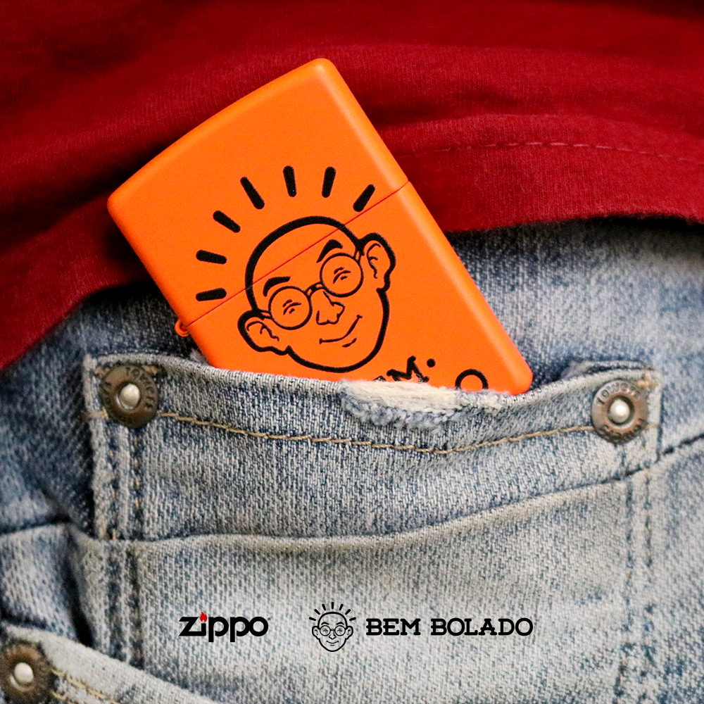 Bolso você já tem, agora só falta o Zippo! . . . A ideia
