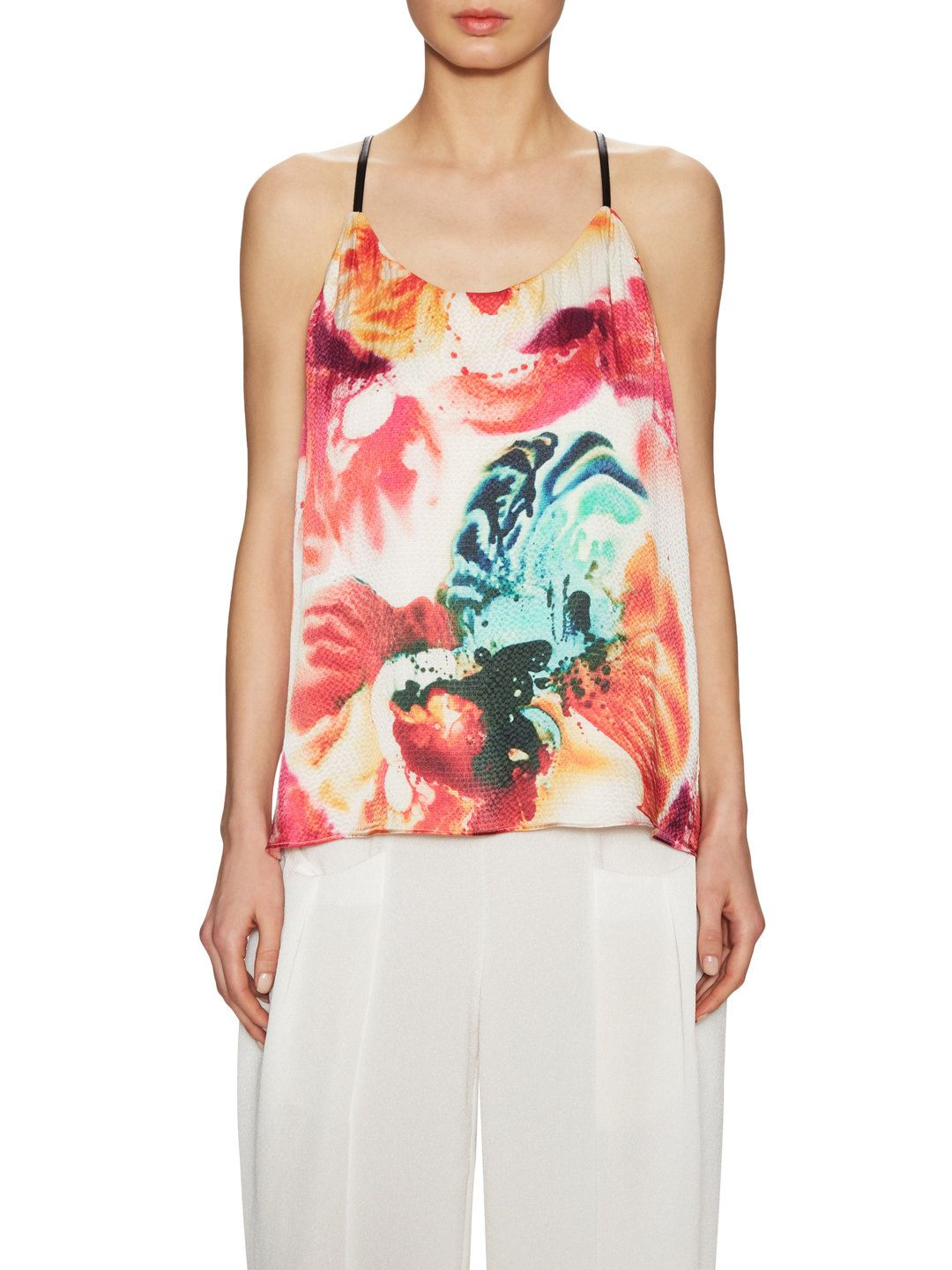Loma Silk Printed Top by Alice + Olivia at Gilt