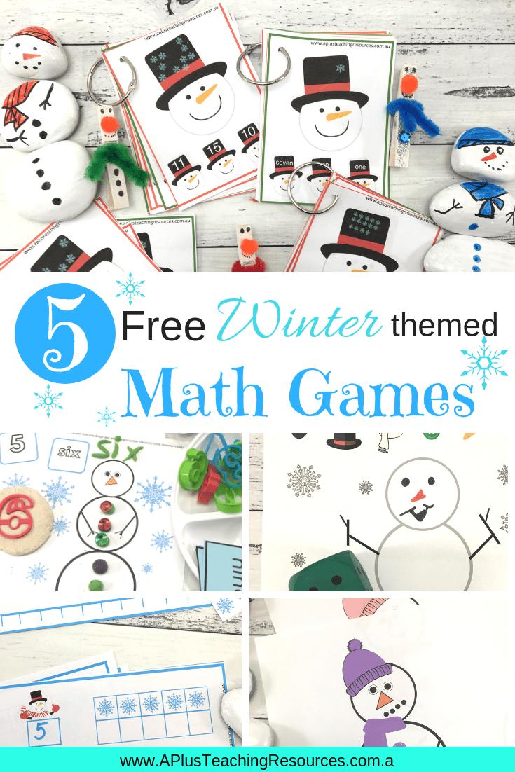 Free Kindergarten Preschool Snowman Printables Winter Kindergarten Winter Themed Math Winter Themed Math Games [ 1102 x 735 Pixel ]