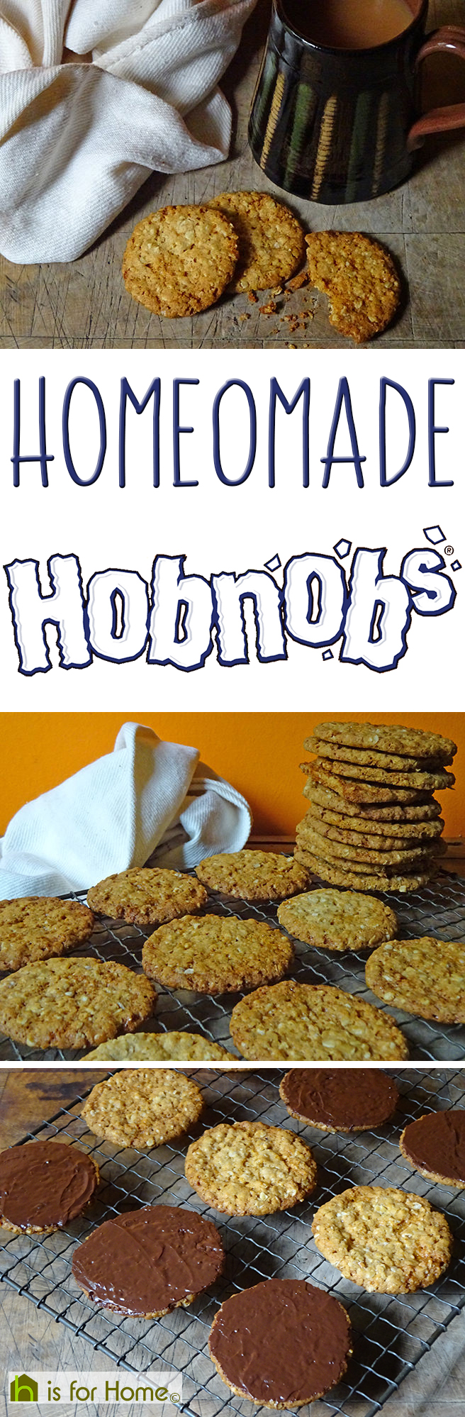 Here's how to make your own delicious Hobnobs!  #recipe #biscuits #cookies #baking #cooking #cookery