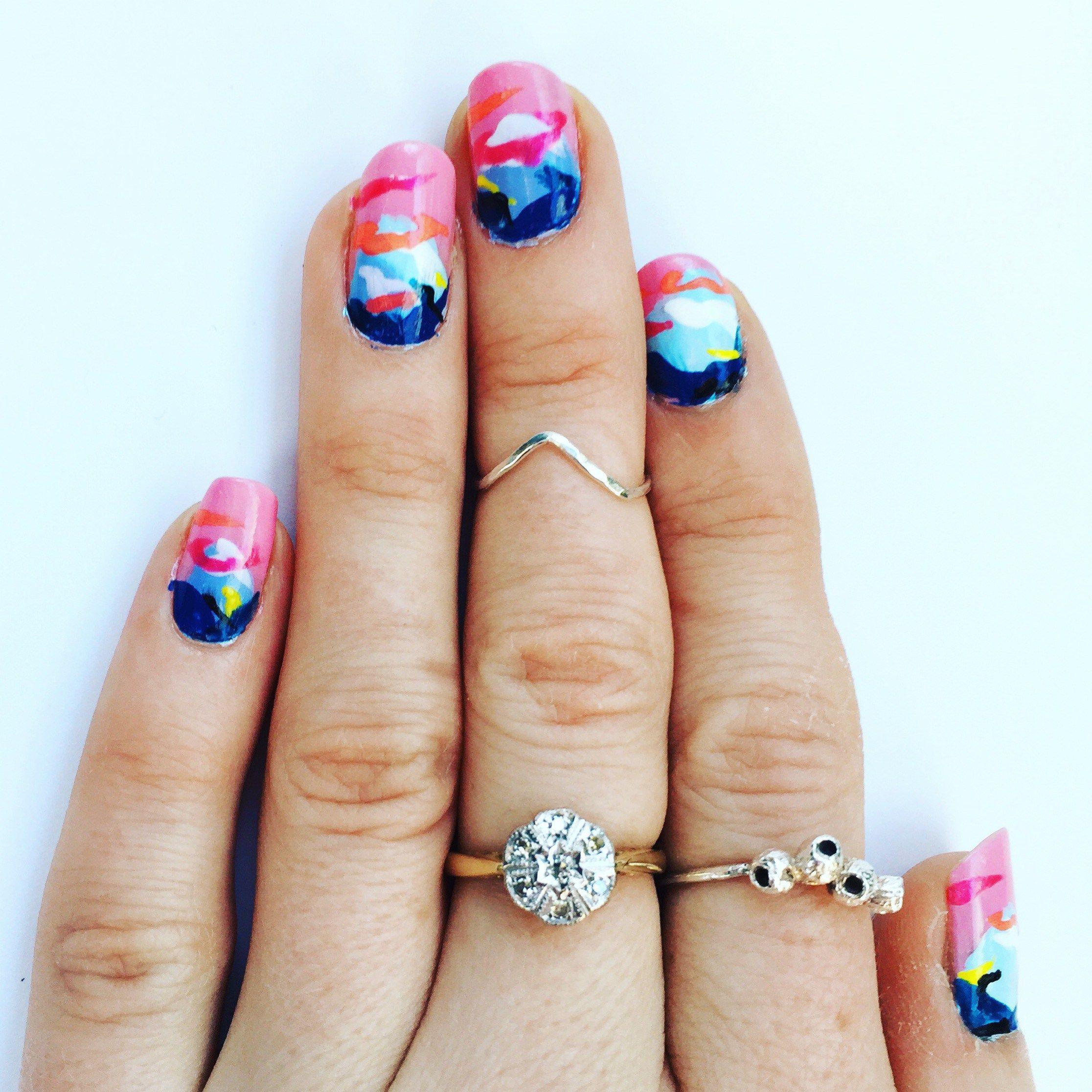 Frankie Magazine Nail Art by Saint Cardigan | nails | Pinterest