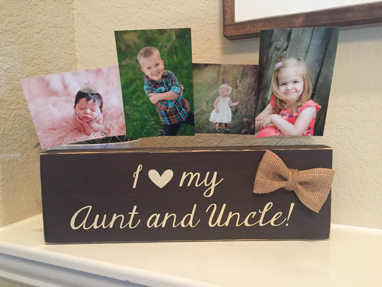 Aunt Uncle Gift I Love My Aunt Uncle Picture Frame Personalized