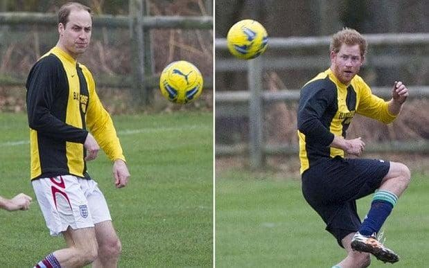 no show for prince william and prince harry at traditional christmas eve football match - Football Christmas Eve