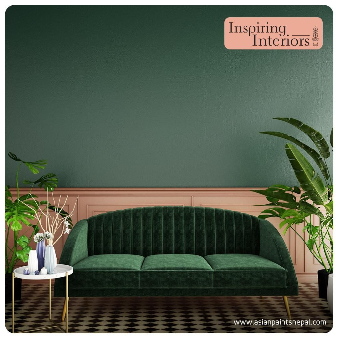 Emerald green, pine green or khaki green? If you are intrigued to introduce the -      Emerald green, pine green or khaki green? If you are intrigued to introduce the colors of nature into your decor, look for the perfect shade that adds character with a touch of elegance to your ambiance.  #InspiringInteriors #EmeraldGreen #HomeDecorStyles #LivingSpaces #HomeDecor #StylishInteriors #Stylish #Spaces #GreenSpaces #LoveOfGreen #NatureInspired #ShadesofNature #Sofa #Couch #SideTable #MarbleTable #