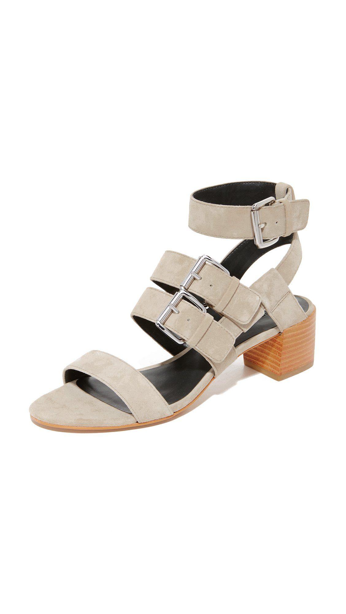 Rebecca Minkoff Women's Ilana City Sandals, Slate, 5.5 B(M) US. Kidskin.