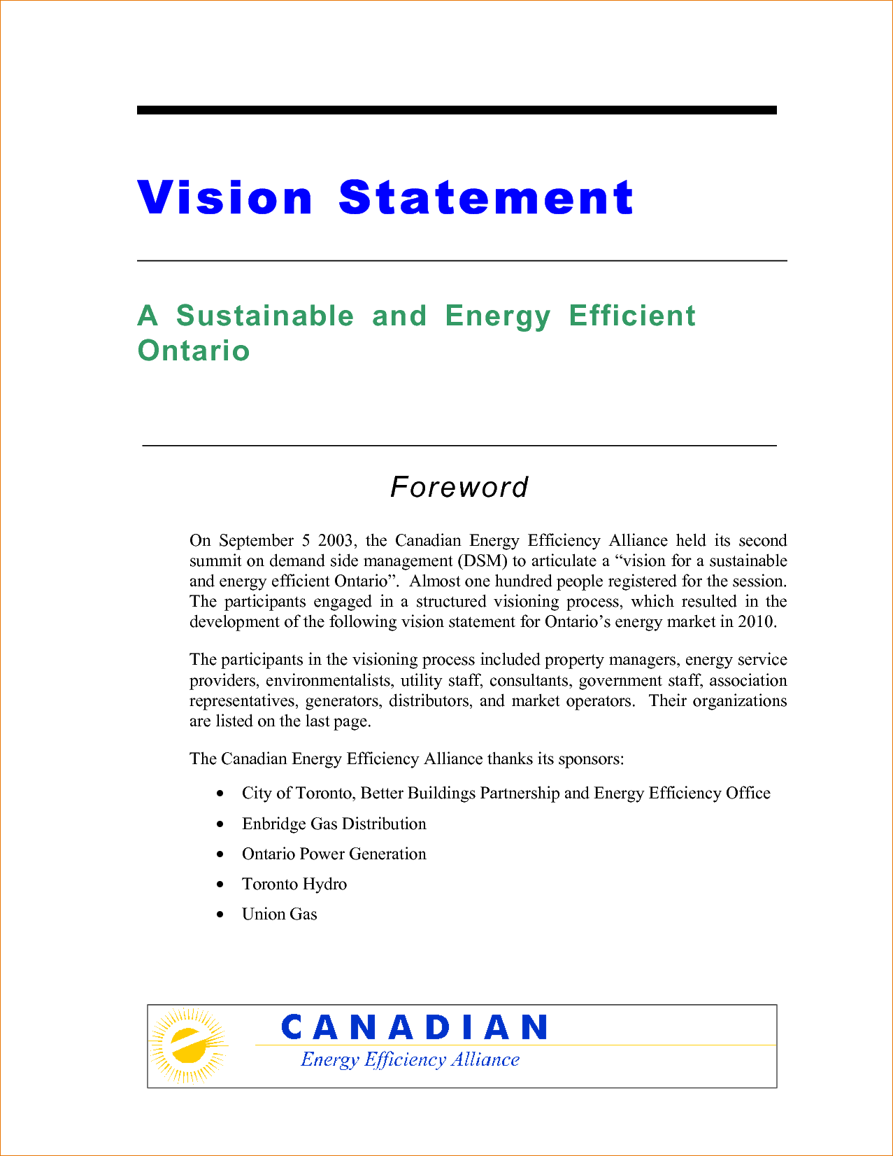 Personal Vision Statement Builder What Is A Vision