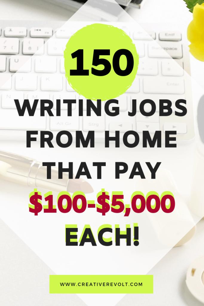 150 Beginner Freelance Writing Jobs From Home 100 Writing Jobs Online Writing Jobs Freelance Writing Jobs