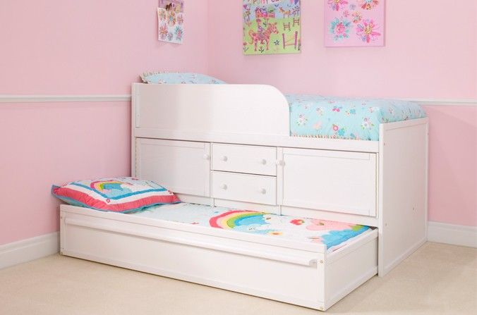 White Sleepover Bed With Storage A Beautiful Pure Version Of Our Kids Which