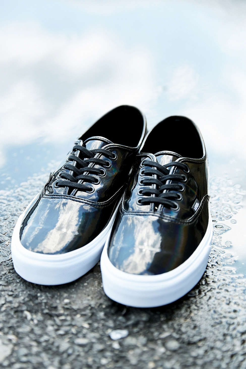 216a40e8c88f5c Vans Patent Leather Classic Authentic Mens Sneaker - Urban Outfitters