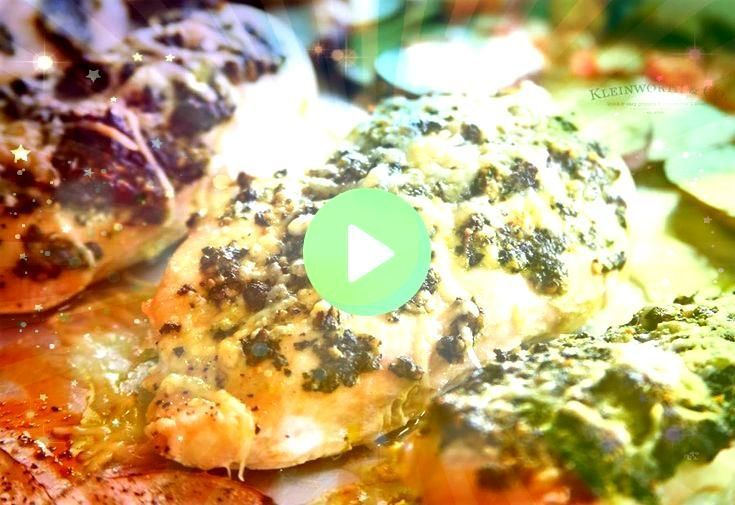 Sheet Pan Pesto Chicken Dinner is a healthier supper recipe the whole family wil Sheet pan suppers recipes Sheet Pan Pesto Chicken Dinner is a healthier supper recipe t P...
