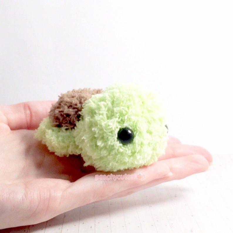 turtle plush fluffy turtle amigurumi