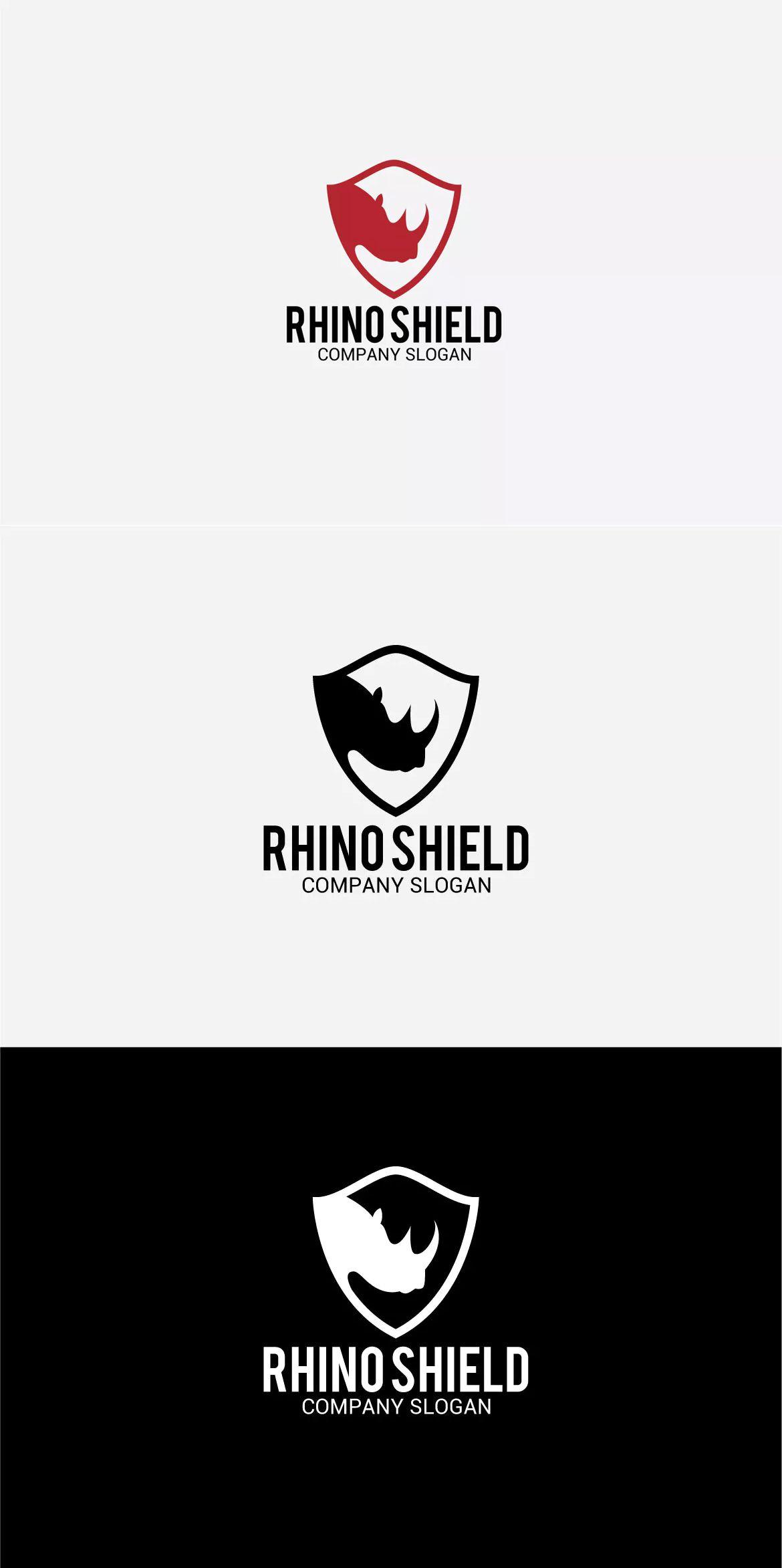 Rhino Shield Logo Template AI, EPS   Logo Templates   Pinterest ...