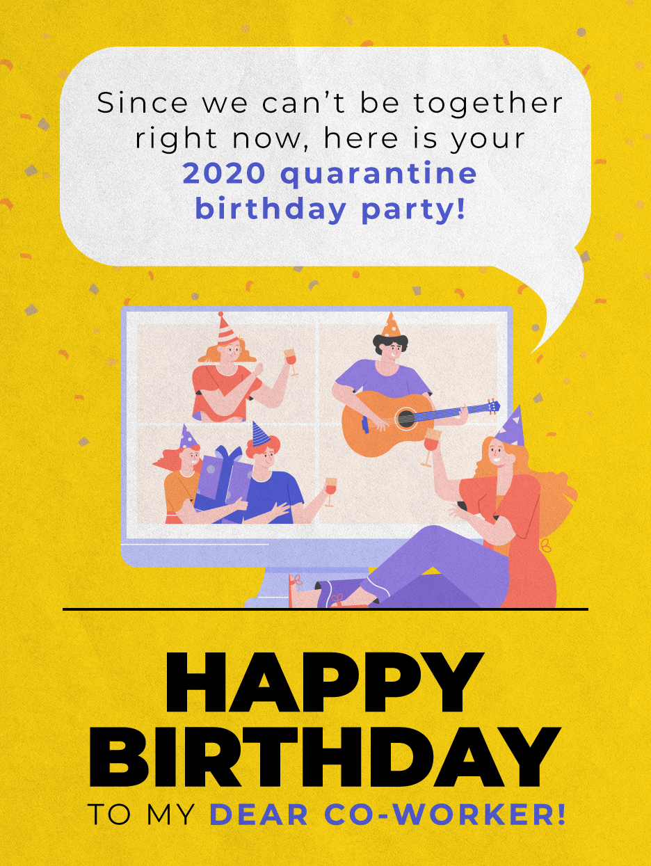 Virtual Celebration Birthday Cards For Co Workers Birthday Greeting Cards By Davia Wife Birthday Quotes Birthday Greeting Cards Cool Birthday Cards