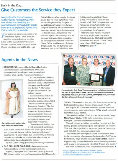 Article In Erie Insurance Agent Magazine Erie Insurance