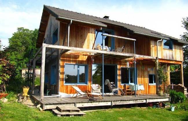 Maison en bois à vendre proche montluçon puy de dôme 63 écologique bioclimatique auvergne
