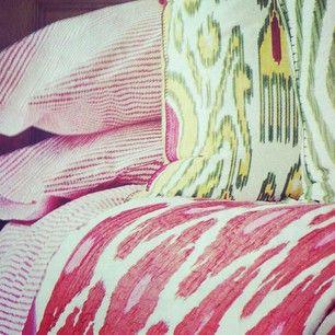 @John Robshaw Textiles. Ken Fulk interior design. @House Beautiful's June 2012 issue.