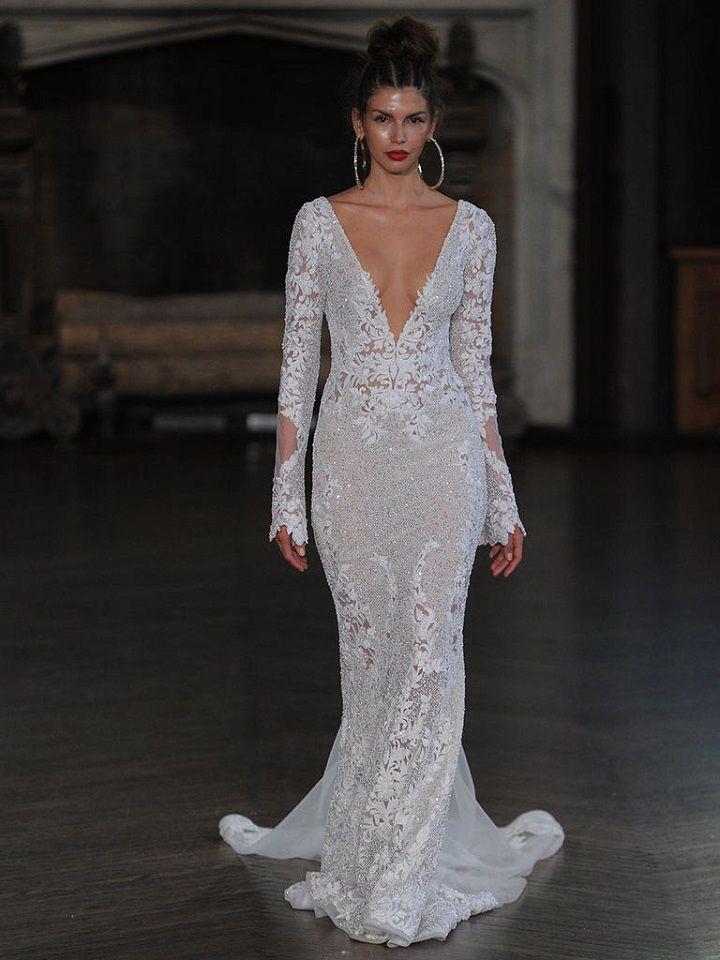 Berta plugin neckline long sleeve details | itakeyou.co.uk #wedding #weddingfashion #bridal #weddingdress #weddinggown #bridalgown #weddingdresses #weddinggowns #berta #bridalinspiration #weddinginspiration #engaged