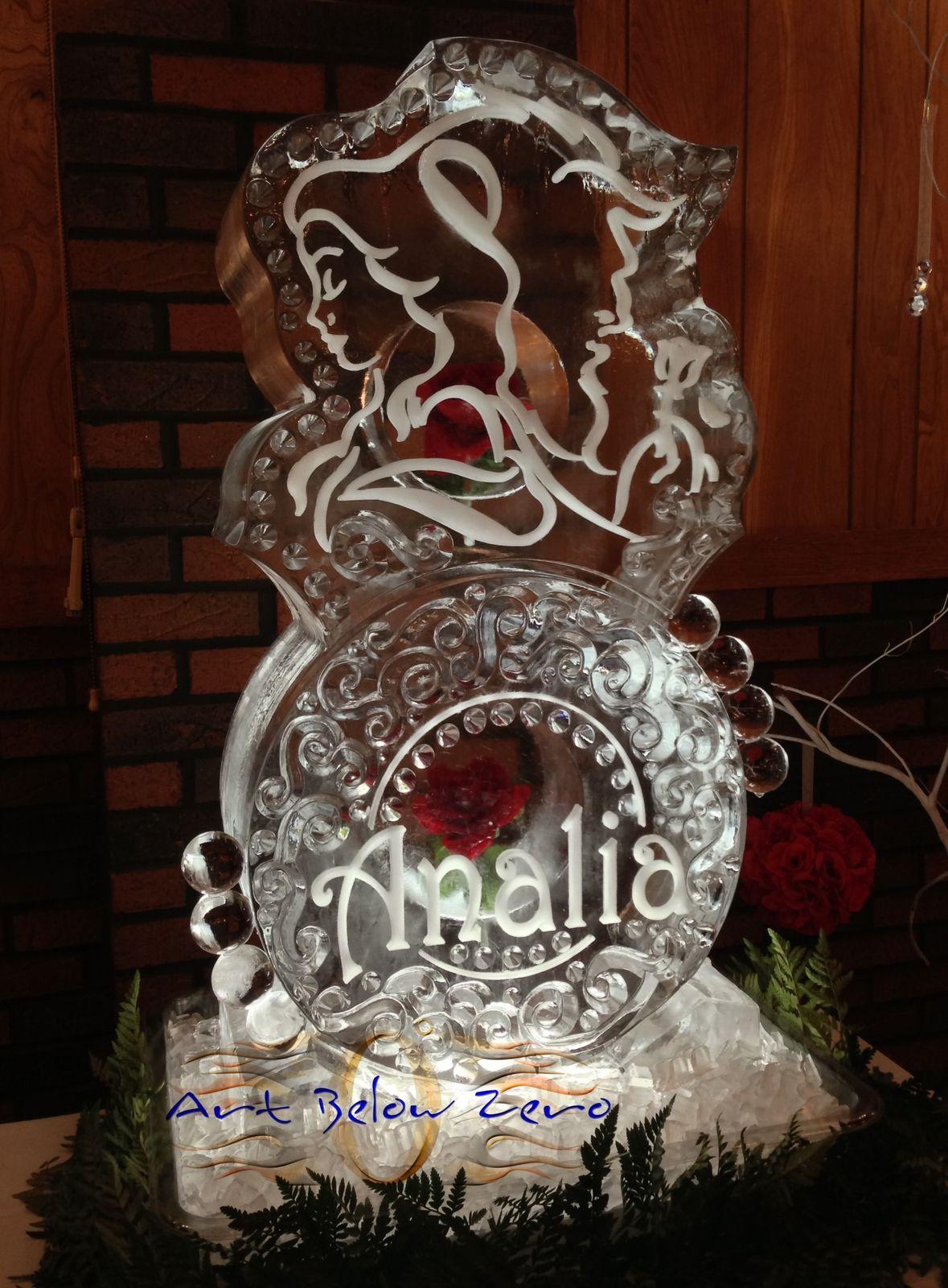 Birthdays Anniversary Ice Sculptures By Art Below Zero Ice Sculptures Wedding Sculpture Ice Carving