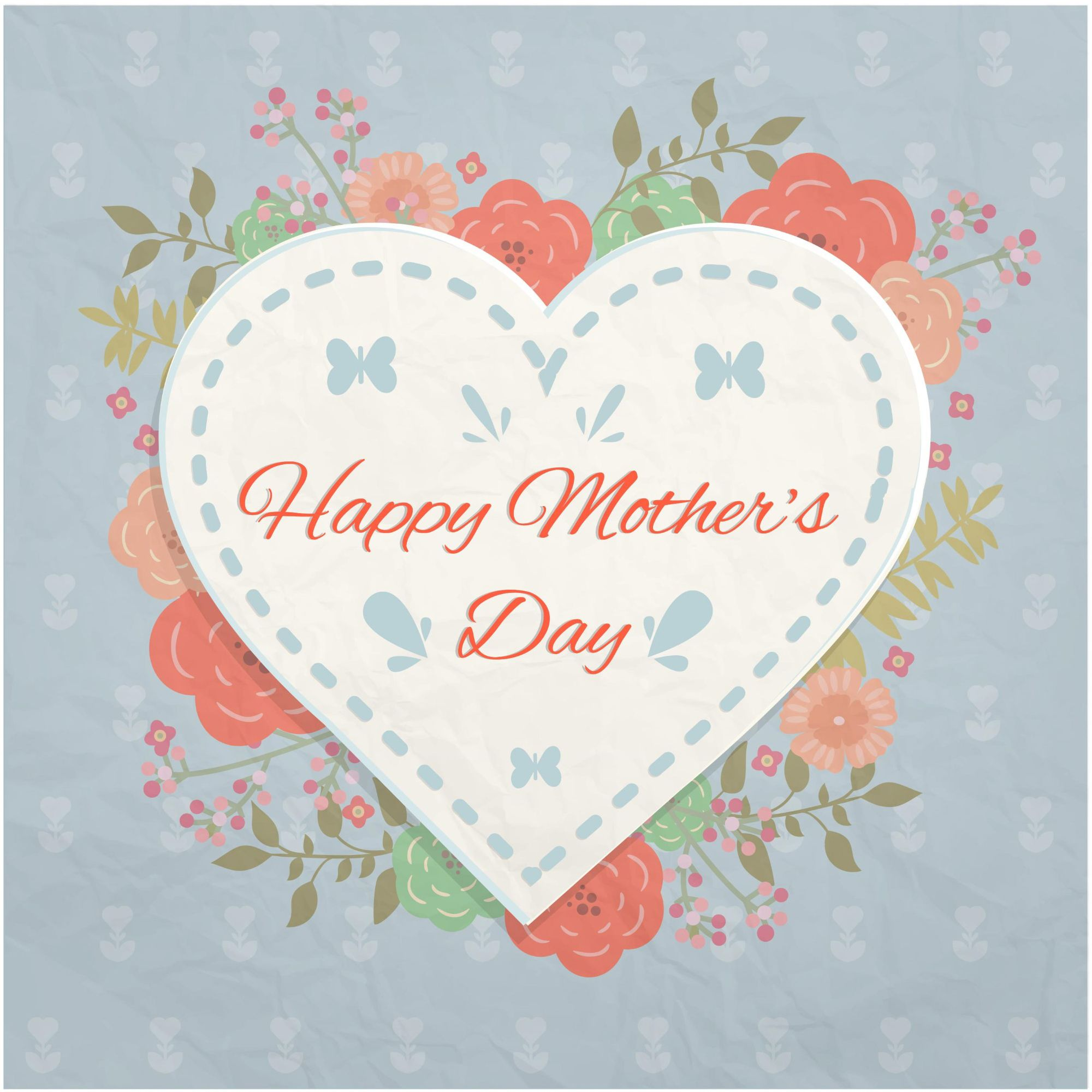 Heart flowers mothers day greetings card free download vector 500 heart flowers mothers day greetings card free download vector kristyandbryce Image collections