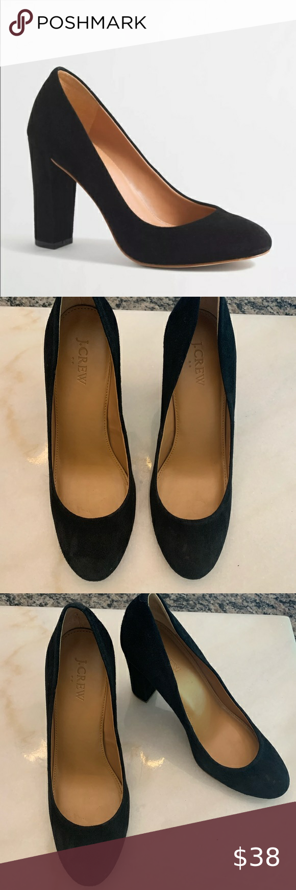 J Crew Factory Olive Black Suede Pumps 9 In 2020 Black Suede Pumps Suede Pumps Shoes Women Heels