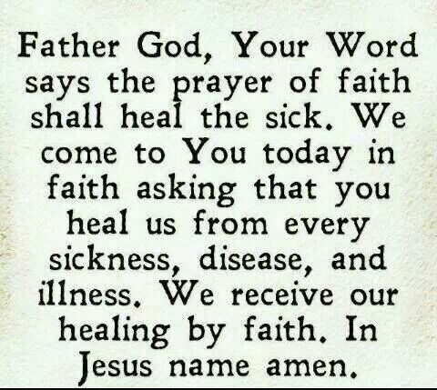 Prayer For Healing … | Prayer for healing the sick, Healing ...