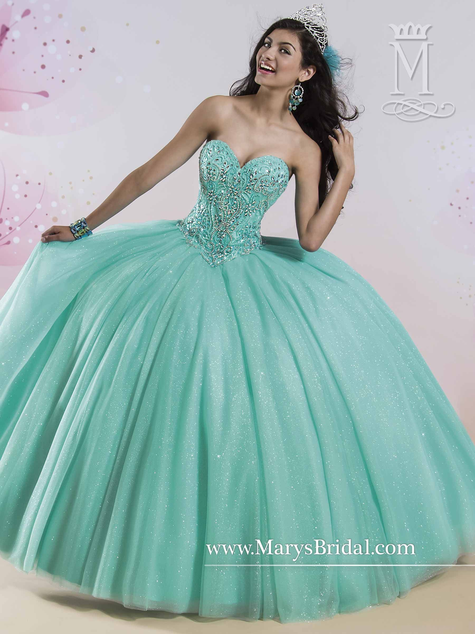 Don't worry, it comes in white. ;)  Quinceanera - Princess - Style: 4Q407 by Mary's Bridal Gowns