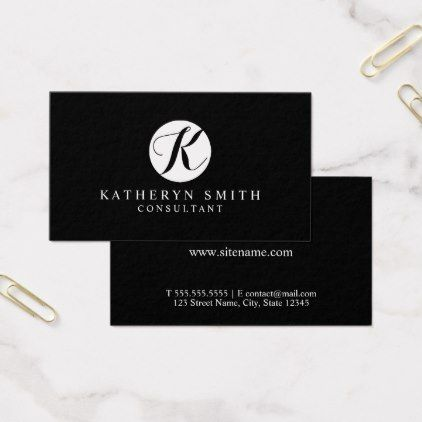 Black and white professional monogram business card monogram gifts black and white professional monogram business card monogram gifts unique design style monogrammed diy cyo colourmoves