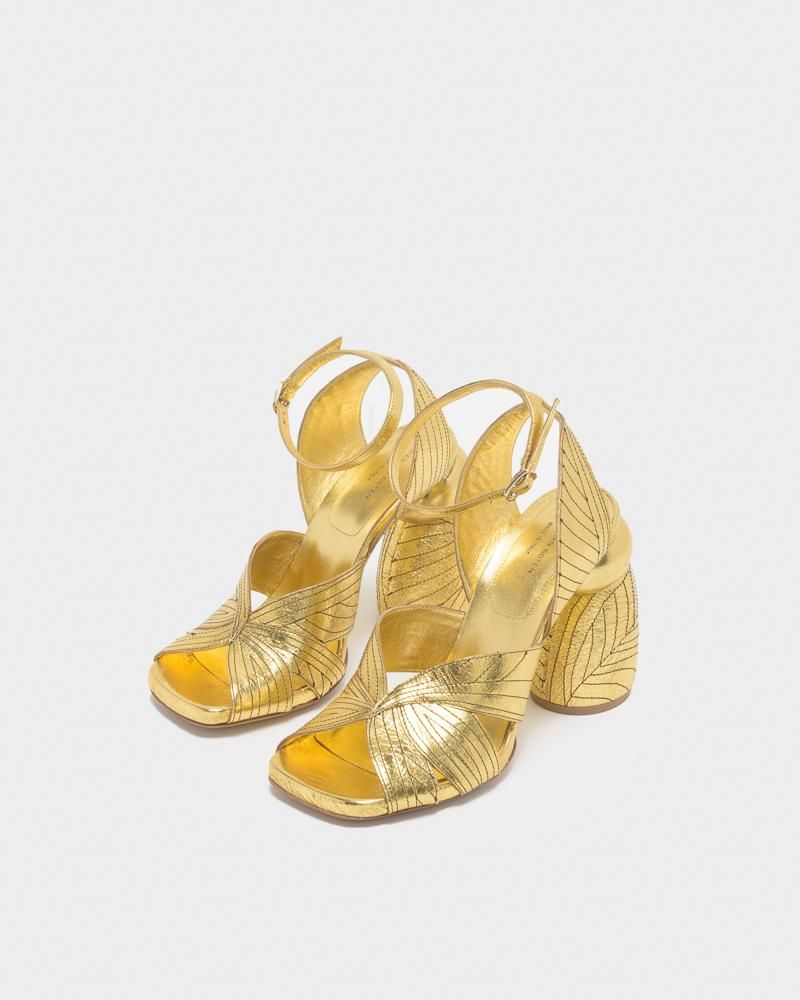 ad623aa34 Sandal in Gold by Dries Van Noten Woman- Mohawk General Store | shoes
