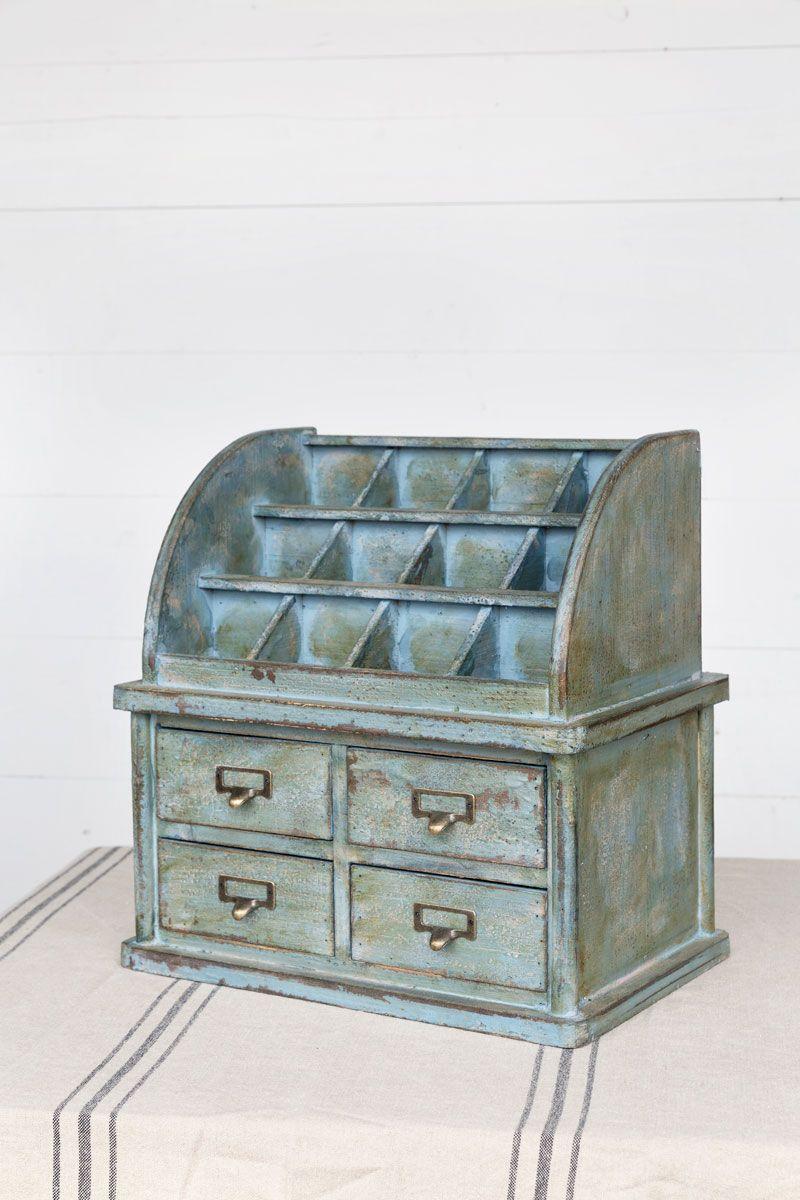 Antique Shopkeepers Desk Organizer, Ljavascript