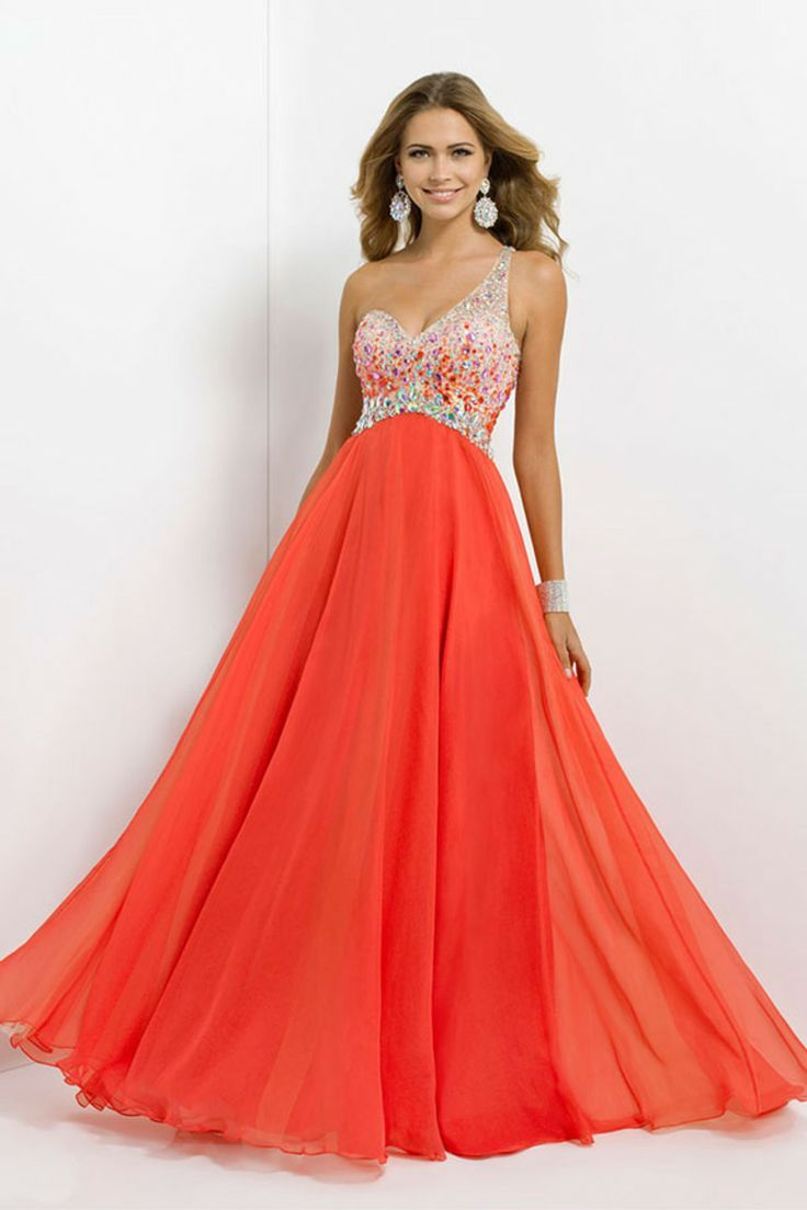 One shoulder prom dress for plus size girls prom ideas