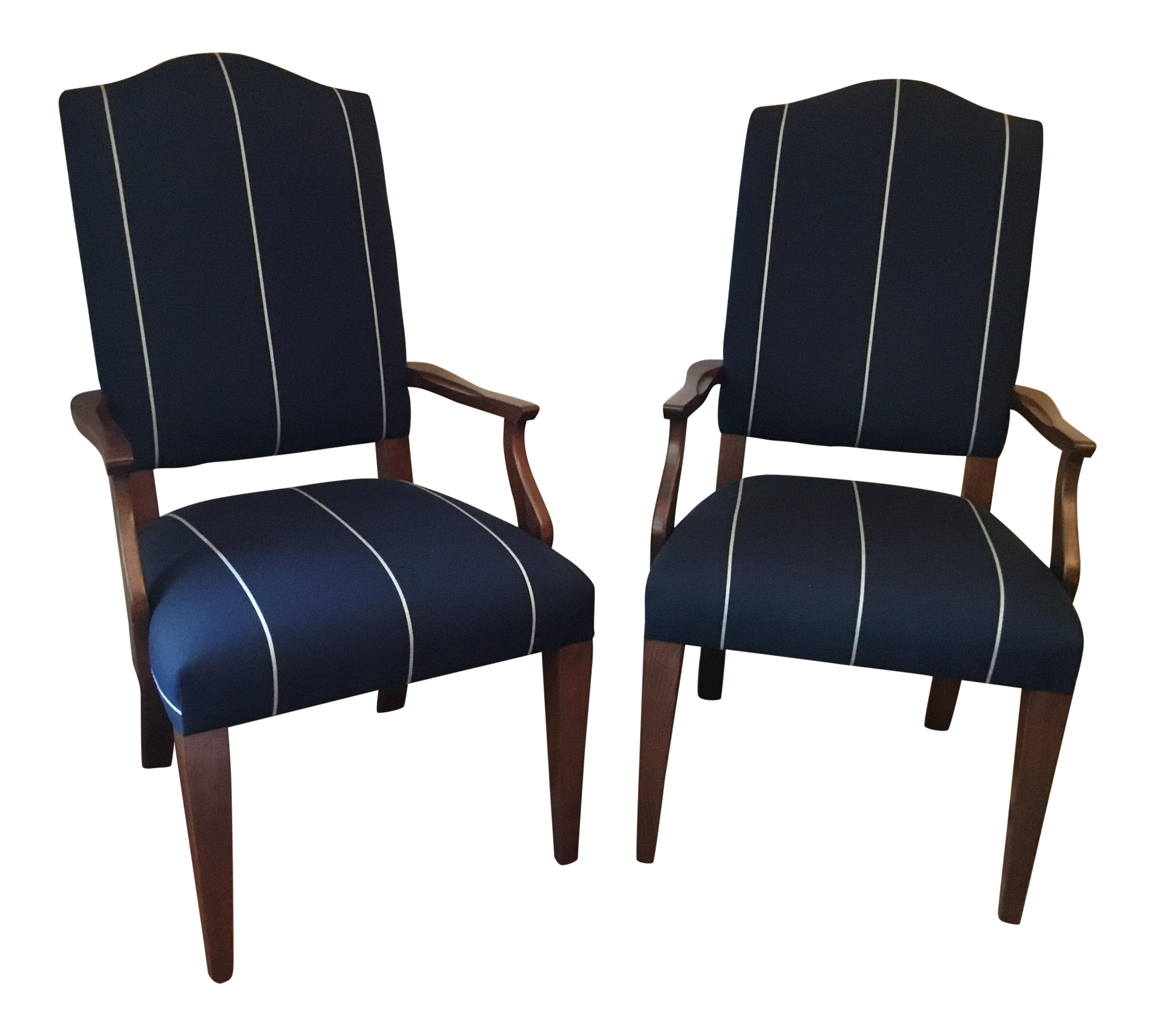 Ethan Allen Armchairs- A Pair on Chairish.com