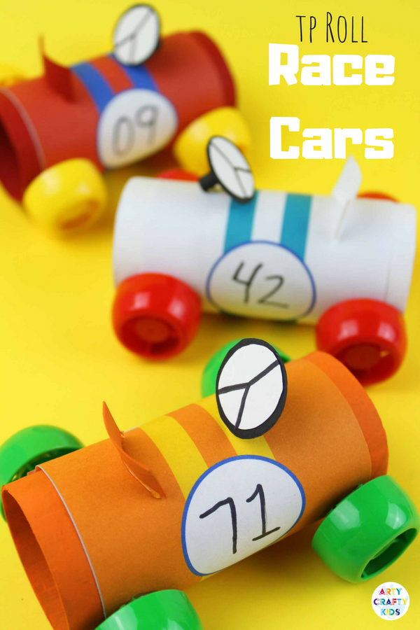 Paper Tube Racing Cars Work Related Recycled Crafts Kids Paper