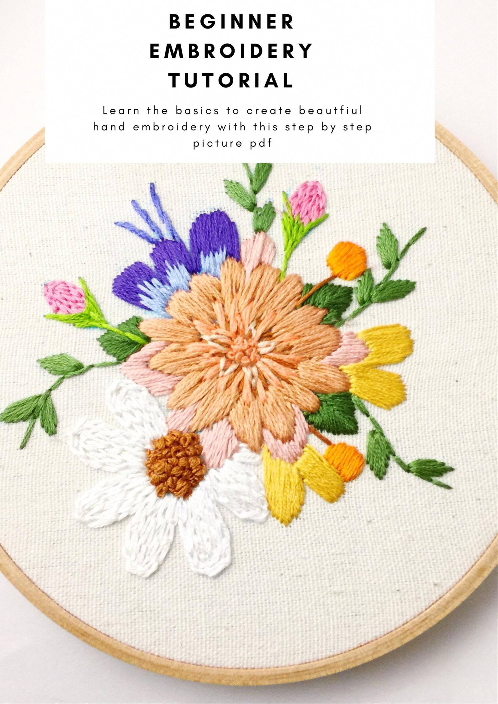 How To Embroider Basic Hand Embroidery Stitches Step By Step