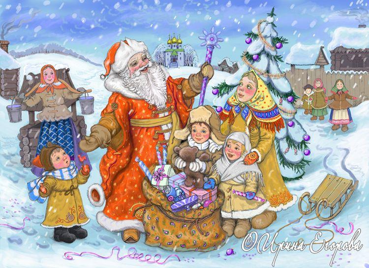 Доброе день, рождество в россии картинки для детей