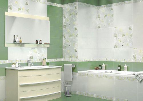 Керамическая плитка для ванной: комнаты фото и размеры ...
