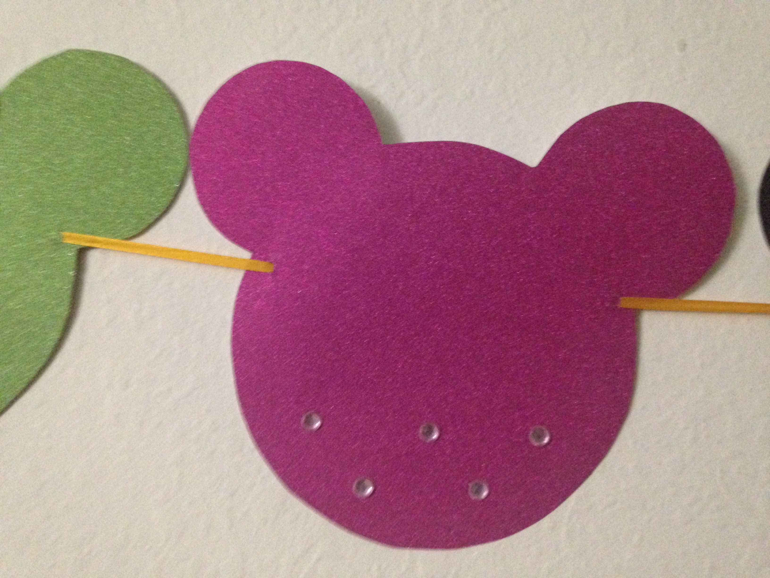 Minnie Mouse Shape Icon Used Glitter Sheet Cardstock Kinder Art Minnie Shapes