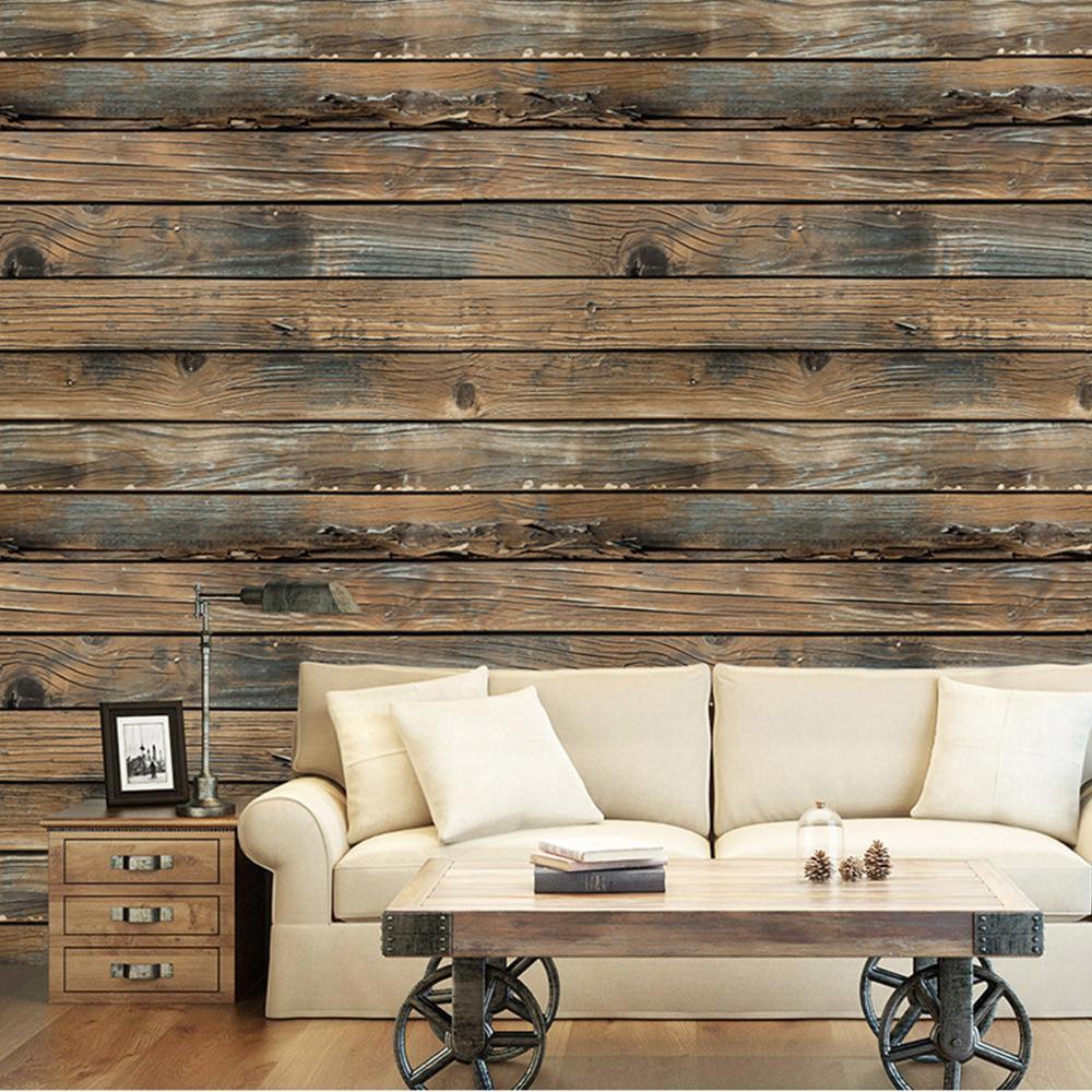 3d Wallpaper Wall Sticker Diy Retro Vintage Wood Panel Grain Roll Vinyl Self Adhesive Peel And Stick Living Living Room Decor 3d Wallpaper For Walls Room Decor