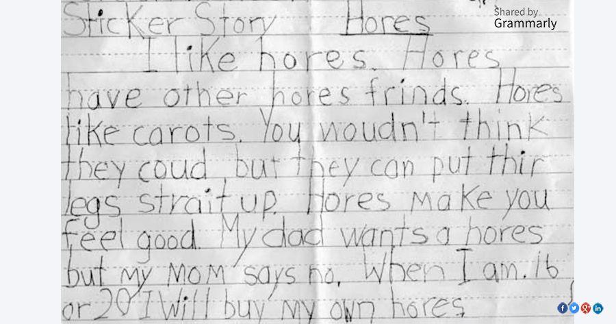 Funny essays by children