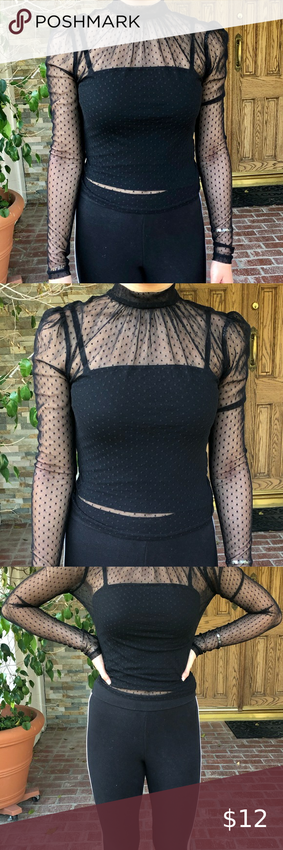Sheer Clip Dot Top F21 In 2020 Clothes Design Dot Tops Fashion