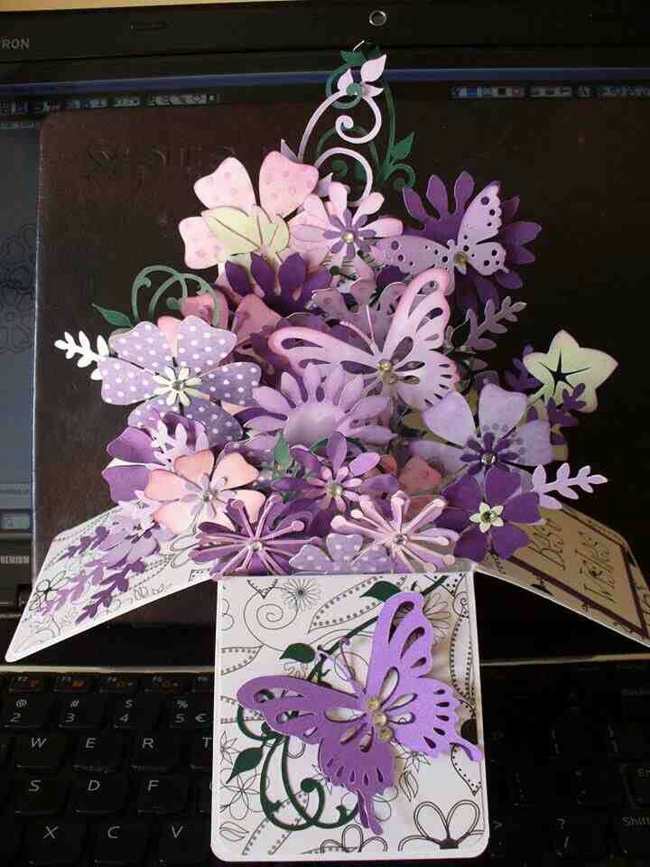 Pin By Judeth M Lewis On Card Handmade Scarpbooking Pop Up Box Cards Box Cards Tutorial Exploding Box Card