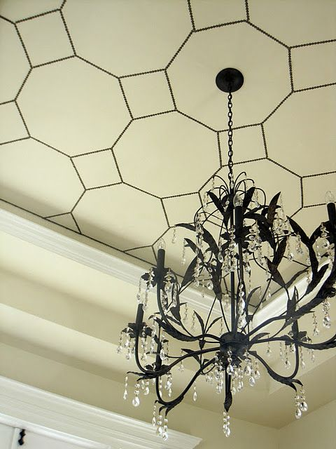 Nailhead ceiling detail from Simple Details