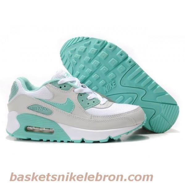 new concept a696d 37b48 Nike Air Max 90 Chaussures-Hommes (bleu vert   blanc) Air Max Femme
